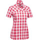Gonso Wolga Bike Bluse 1/2 Arm Damen raspberry check